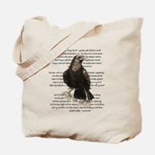 Edgar Allen Poe The Raven Poem Tote Bag