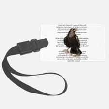 Edgar Allen Poe The Raven Poem Luggage Tag