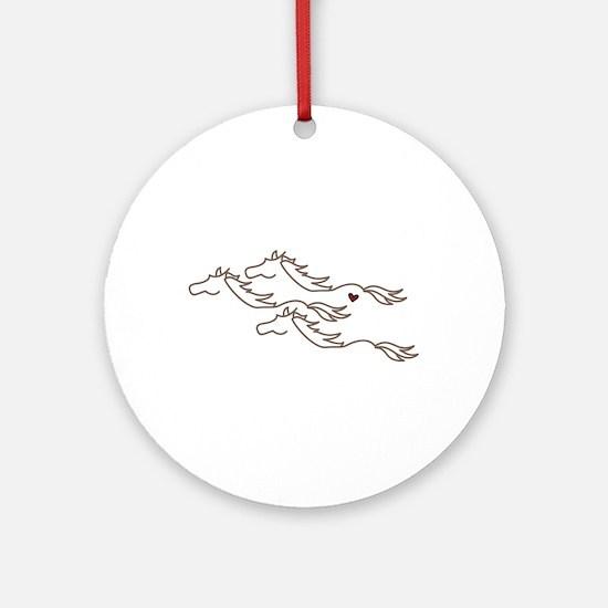 Wild Horses Ornament (Round)
