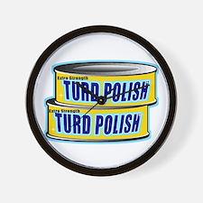 Turd Polish Wall Clock