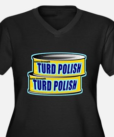 Turd Polish Women's Plus Size V-Neck Dark T-Shirt