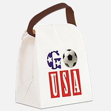 Go USA Soccer Canvas Lunch Bag