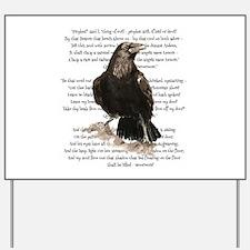 Edgar Allen Poe The Raven Poem Yard Sign