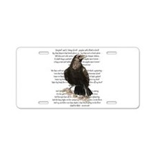 Edgar Allen Poe The Raven Poem Aluminum License Pl