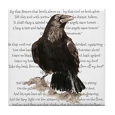 Edgar Allen Poe The Raven Poem Tile Coaster
