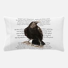 Edgar Allen Poe The Raven Poem Pillow Case