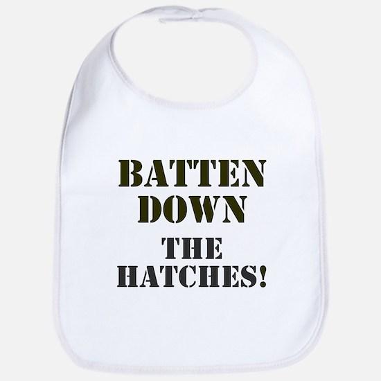 BATTEN DOWN THE HATCHES! Baby Bib