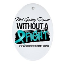 PKD Not Going Down Ornament (Oval)