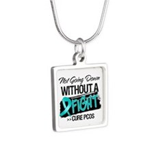 PCOS Not Going Down Silver Square Necklace