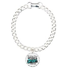 PCOS Not Going Down Charm Bracelet, One Charm