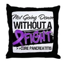 Cure Pancreatitis Throw Pillow