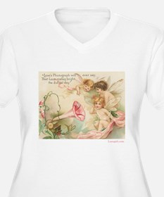 Victorian Fairies Pink Flowers Love T-Shirt