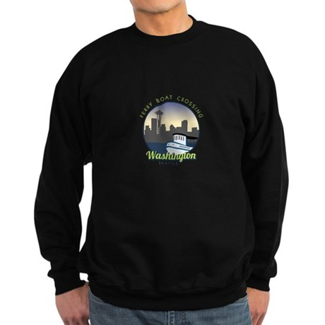 Ferry Boat Crossing Washington Seattle Sweatshirt