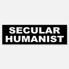 SECULAR HUMANIST Bumper Car Car Sticker