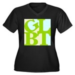 GLBT Tropo Pop Women's Plus Size V-Neck Dark T-Shi