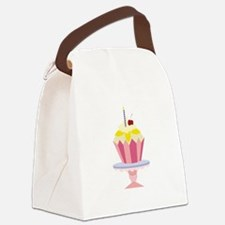 Birthday Cupcake Canvas Lunch Bag