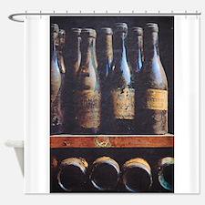 Antique Wine Bottles Shower Curtain