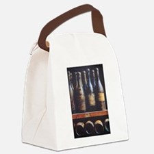 Antique Wine Bottles Canvas Lunch Bag