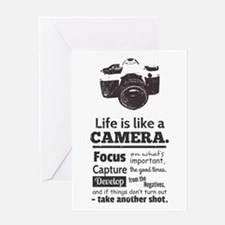 camera-grunge-quote Greeting Cards