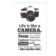 camera-grunge-quote Postcards (Package of 8)