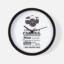 camera-grunge-quote Wall Clock