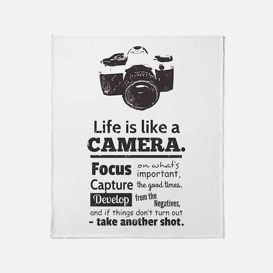 camera-grunge-quote Throw Blanket