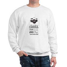 camera-grunge-quote Sweatshirt