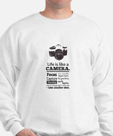 camera-grunge-quote Sweatshirt