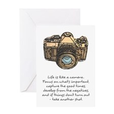 camera-quote-colour Greeting Cards