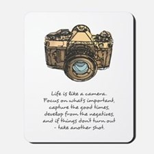 camera-quote-colour Mousepad