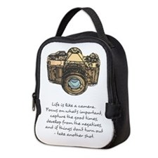 camera-quote-colour Neoprene Lunch Bag
