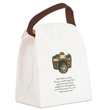 camera-quote-colour Canvas Lunch Bag