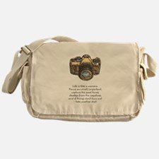 camera-quote-colour Messenger Bag