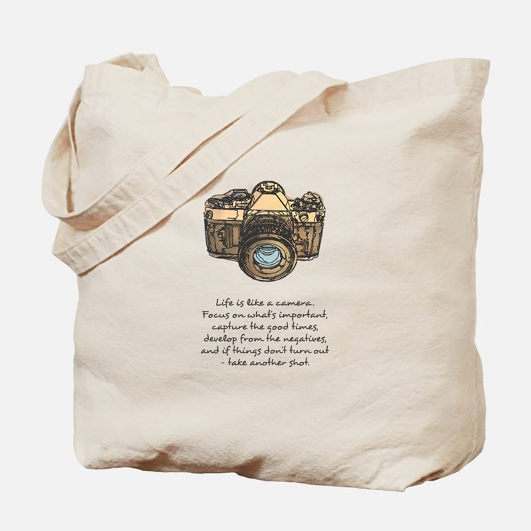 camera-quote-colour Tote Bag