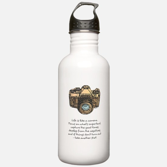 camera-quote-colour Water Bottle