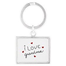 I Love Grandma Keychains