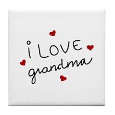 I Love Grandma Tile Coaster