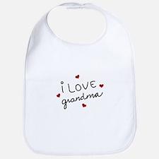 I Love Grandma Bib