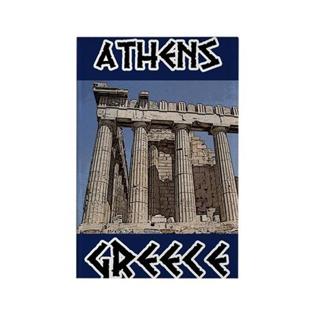 Athens Rectangle Magnet (10 pack)