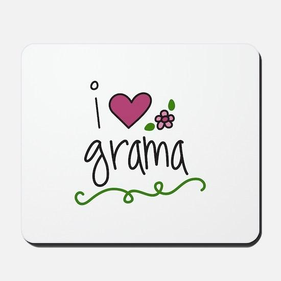 I Love Grama Mousepad