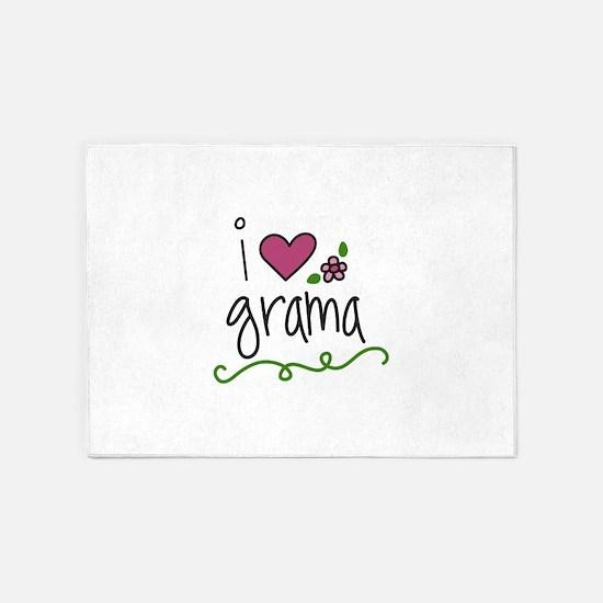 I Love Grama 5'x7'Area Rug