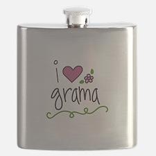 I Love Grama Flask