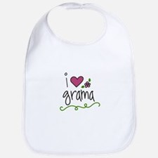 I Love Grama Bib