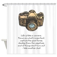 camera-quote-colour Shower Curtain