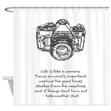 camera-quote Shower Curtain