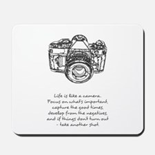 camera-quote Mousepad
