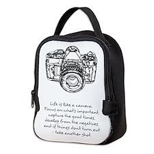 camera-quote Neoprene Lunch Bag