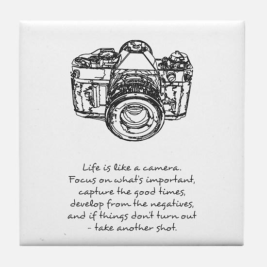 camera-quote Tile Coaster