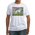 Lilies & Whippet Fitted T-Shirt