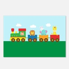 animal-train Postcards (Package of 8)